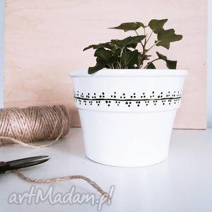 ceramika doniczka biała simple pnącza, doniczka, simple, ceramiczna