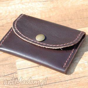 czarna skórzana portmonetka z możliwością personalizacji, portmonetka, skóra, portfel