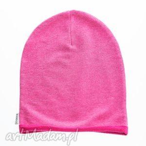 cadoaccessories wygodna i praktyczna czapka dziecięca z dzianiny dresowej różowy