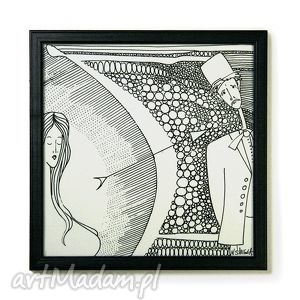 grafika - oryginalny znak zodiaku strzelec oprawiony obrazek prezent na
