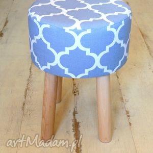 pufy stołek fjerne m szara koniczyna , taboret, stołek, krzesło, dekoracja