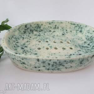 mydelniczka ceramiczna, dekoracyjna, mydelniczka, z, ceramiki, handmade, ceramiczna