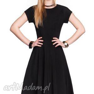 sukienka star midi czarna, sukienka, midi, rozkloszowana, elegancka