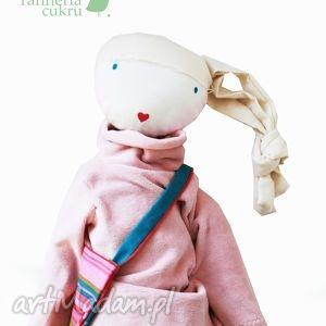 unikalny prezent, sofia pink lalka z sercem, lalka, szmacianka, przytulanka, włosy