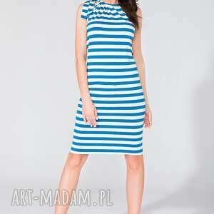 sukienka z kokardą t127 paski - sukienka, wiązana, kokarda, letnia