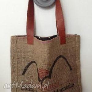 torebka atlantica, juta, grochy na ramię torebki, świąteczny prezent