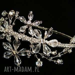 ozdoba ślubna opaska z kryształkami svarowskiego, ślub, opaska, swarovski, kryształki