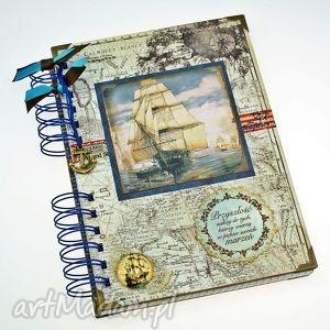 Prezent Pamiętnik/ Notatnik- zapiski marynarza, notes, morze, żaglowiec, zapiśnik