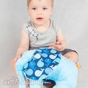 mięciutki słonik - minky bawełna wielorybki, minky, zabawka, maskotka dla dziecka