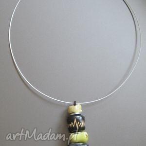 """Naszyjnik """"Arabski III"""" , naszyjnik, ceramika, biżuteria, metal, handmade, kobiecy"""