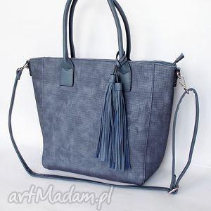 shopper w kolorze jeansu, torba, torebka, jesns torebki