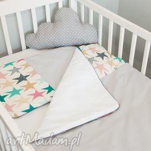 pokoik dziecka pościel do łóżeczka zaczarowane niebo - róż, gwiazdki, miękka