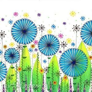 łąkaii, łąka, kwiaty, habry grafika