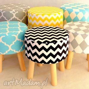 Stołek Fjerne S ( szare romby), siedzisko, puf, dekoracja, taboret, szary, design