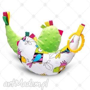 maskotki kurka przytulanka sensorek maskotka minky - papugi, dla dziecka