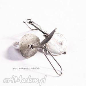 Prezent Madame P , perły, srebro, oksydowane, monety, prezent