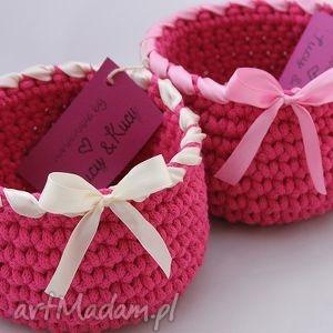 kosz mini dark pink, kosz, koszyczek, przechowywanie, doniczka, drobiazgi, pudełko