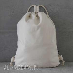 oryginalny prezent, elkido handmade plecak city backpack - cream, plecak, spacer