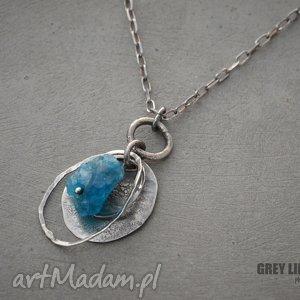 surowy apatyt - wisiorek, srebro, 925, organiczna, biżuteria, apatyt