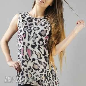 bluzki bluzka adela 1, lekka, zwiewna, panterka, wygodna, modna, szyfon