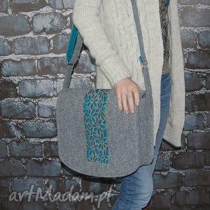 torba z filcu - listonoszka personalizowana grawerowaną dedykacją, torba, laptop