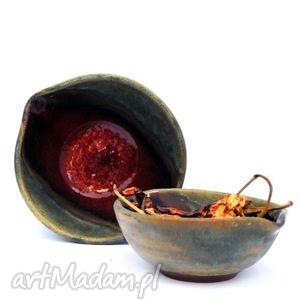 ceramika ceramiczne miseczki 2szt - eliptyczne, miseczka, miseczki, naczynia