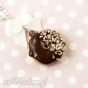 theresa ursulas jewelry naszyjnik donut pączek czekoladowy z orzechami
