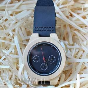 Drewniany, bambusowy zegarek z datownikiem SEIKO, zegarek, drewniany, datownik