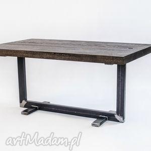 stoły stolik twiga industrialny, do loftu, minimalistyczny, dąb i stal, designerski