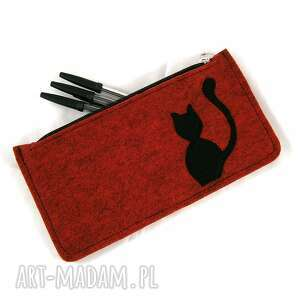 etui red-melange pencil-case, piórnik, kot