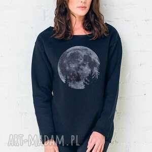 bluzy mmon oversize bluza, oversize, czarny, casual, moda, bawełna