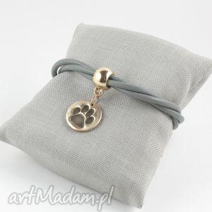 bransoletki bransoletka z łapką w szarości , łapka, pies, kot biżuteria