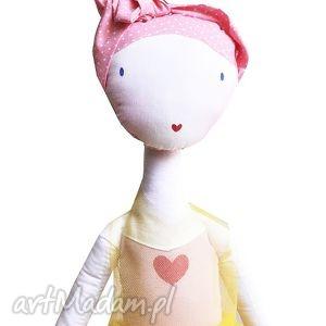 słoneczna nola - lalka z sercem, baletowa, balet, tutu, tiul, szmacianka, serce