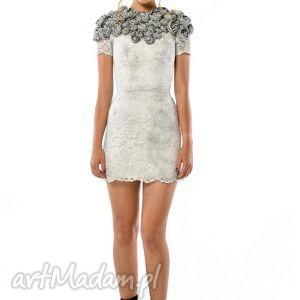 sukienki tworzysława mini - koronkowa suknia ślubna, koronka, wieczorowa