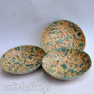 ceramika miseczki w turkusie, misa, patera, talerz, dom