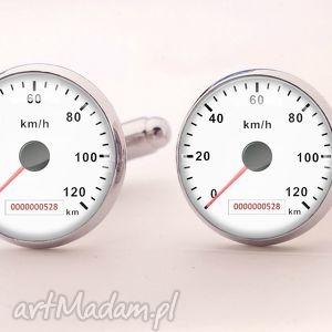 prędkościomierz - spinki do mankietów - spinki, mankietów
