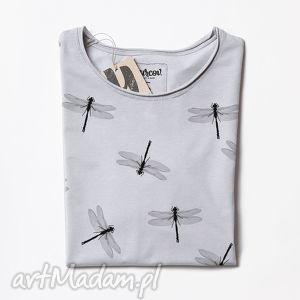yurcov dragonflies tunika z nadrukiem, tshirt, wazka, nadruk, oversize, bluzka