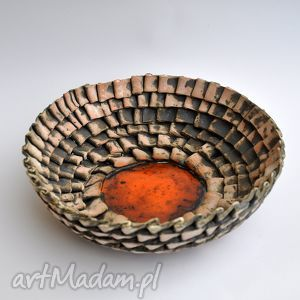 ceramika surowa misa w zakładki, misa, patera, dom
