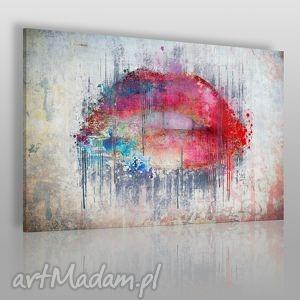 obraz na płótnie - abstrakcja usta 120x80 cm 23101 , usta, abstrakcja, nowoczesny