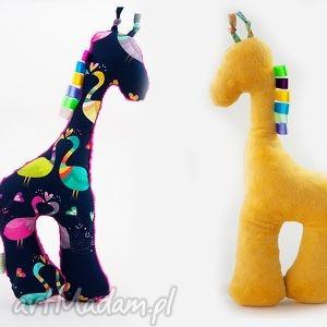 Żyrafka PAWIE żółty - żyrafka, przytulanka