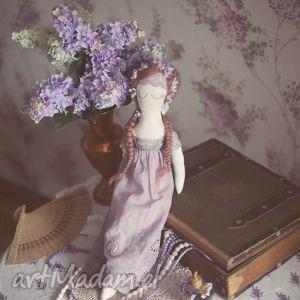 lalka józefina - wiktorańska wróżka, lalka, retro, lawendowa, koronka, wianek