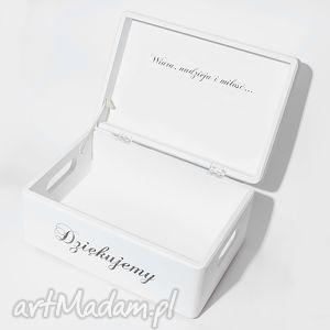 księgi gości ślubne pudełko na koperty kopertówka uniwersalne napis dziękujemy love