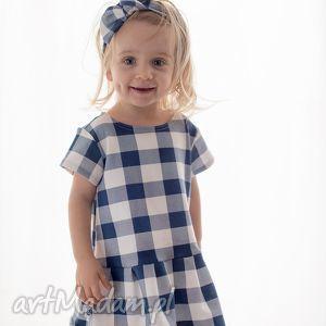 ubranka sukienka w kratę, sukienka, dzianinowa, kraciasta, kratka, dziewczęca dla