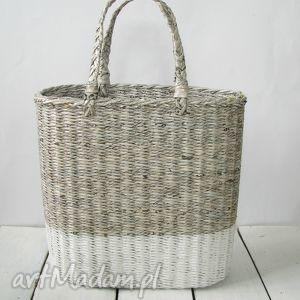 koszyk gray white, kosz