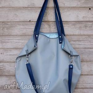worek waterproof blue blue, worek, torba, ekoskóra, błękit, pojemna, gdynia torebki
