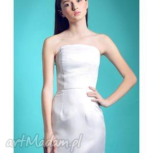 Nowa Kolekcja - Bianco, gorsetowa, sukienka, slubna, prosta