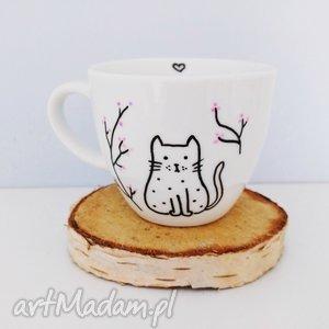 filiżanka z kotkiem, filiżanka, kot, kotek, cat, simple, biała, pod choinkę prezent