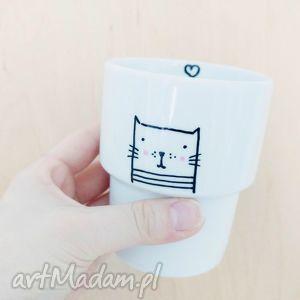 kubek bez ucha meow, kubek, kot, kotek, cat, porcelana, świąteczne prezenty