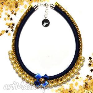 oryginalny prezent, kolia naszyjnik tiffi blue, kolia, naszyjnik, elegancki, perły