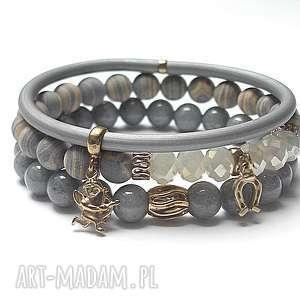 alloys collection - melanz grey 26-01-16 , jadeity, turkusy, kauczuk, brąz